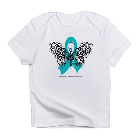 Ovarian Cancer Tribal Butterfly Infant T-Shirt
