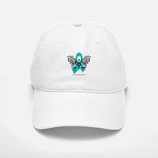 Ovarian Cancer Tribal Butterfly Baseball Baseball Cap