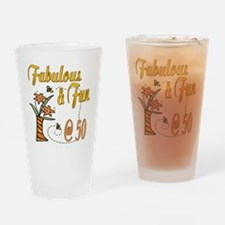 Floral 50th Pint Glass
