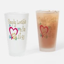 Lovable 90th Pint Glass