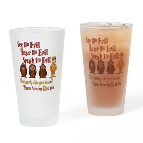 Party 60th Pint Glass