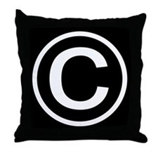 Copyright Throw Pillow