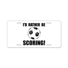 Cute Soccer funny Aluminum License Plate