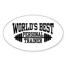 Personal Trainer Oval Decal