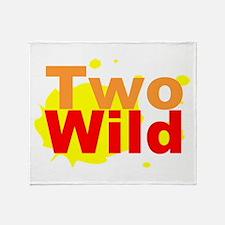 Two Wild Throw Blanket
