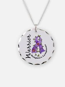Hodgkin's Lymphoma Warrior Necklace