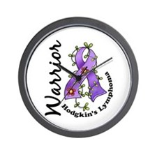 Hodgkin's Lymphoma Warrior Wall Clock