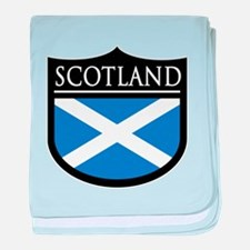 Scotland Flag Patch baby blanket