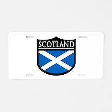 Scotland Flag Patch Aluminum License Plate