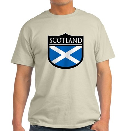 Scotland Flag Patch Light T-Shirt