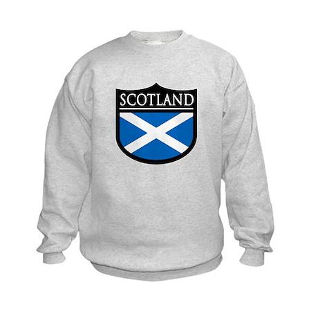 Scotland Flag Patch Kids Sweatshirt
