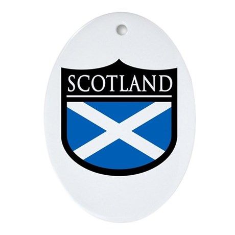 Scotland Flag Patch Ornament (Oval)