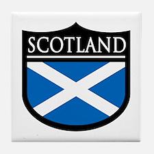 Scotland Flag Patch Tile Coaster
