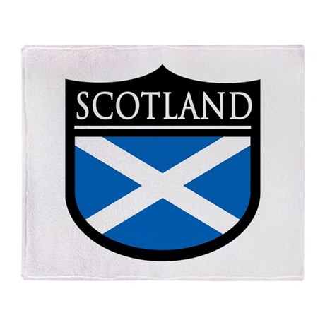 Scotland Flag Patch Throw Blanket