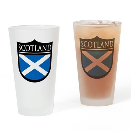 Scotland Flag Patch Pint Glass