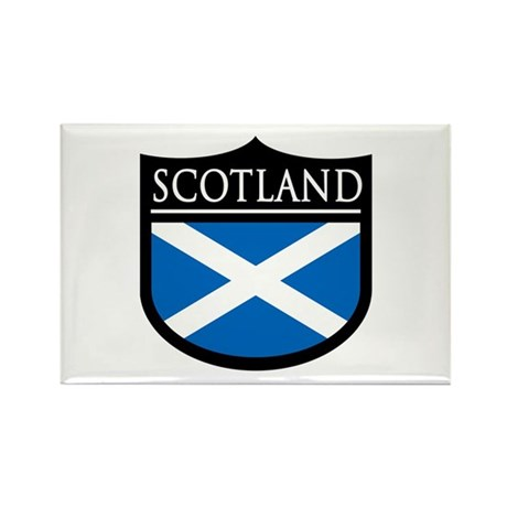 Scotland Flag Patch Rectangle Magnet (10 pack)