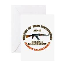 Weapon of Mass Destruction - AK47 Greeting Card