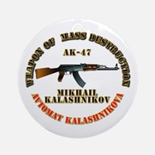 Weapon of Mass Destruction - AK47 Ornament (Round)