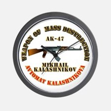 Weapon of Mass Destruction - AK47 Wall Clock