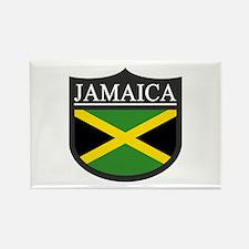 Jamaica Flag Patch Rectangle Magnet