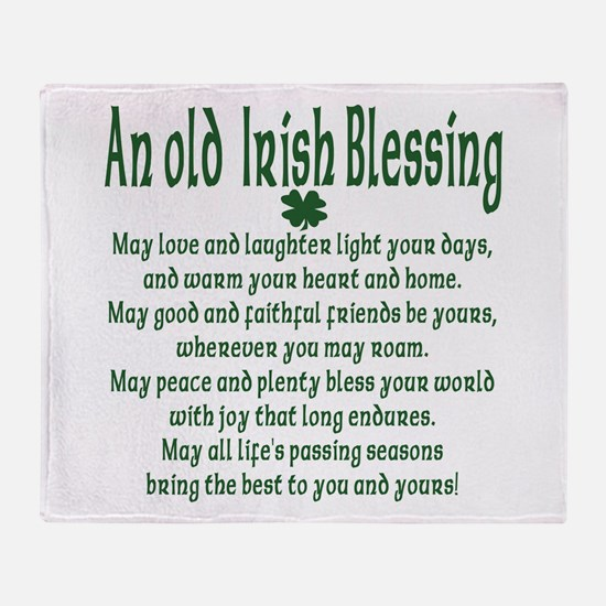 Old irish Blessing Throw Blanket