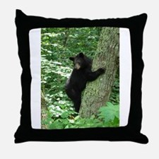 Unique Black bear Throw Pillow