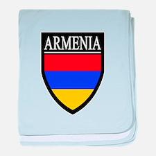 Armenia Flag Patch baby blanket