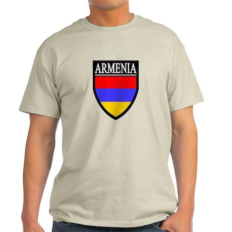 Armenia Flag Patch Light T-Shirt