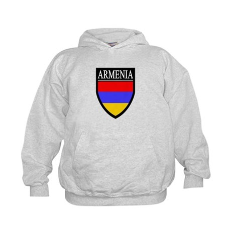 Armenia Flag Patch Kids Hoodie