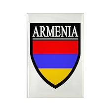 Armenia Flag Patch Rectangle Magnet