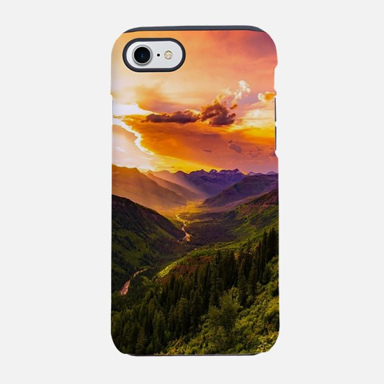 Beautiful Sunset Mountains Val iPhone 7 Tough Case