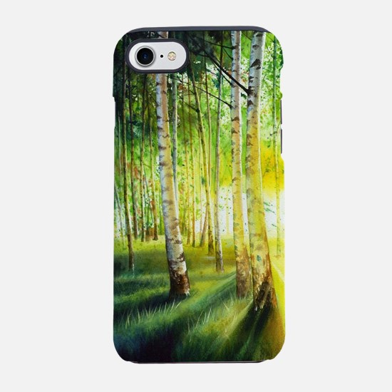 Green Forest Watercolor Painti iPhone 7 Tough Case