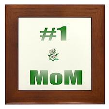 Green #1 Mom Framed Tile