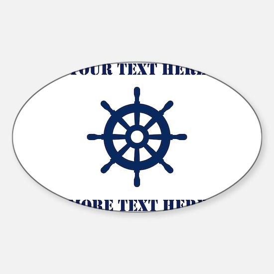 Custom nautical ship wheel Decal