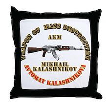 Weapon of Mass Destruction - AKM Throw Pillow