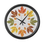 Fall leaves Large Wall Clock