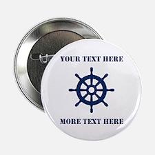 """Custom Nautical Name Badge 2.25"""" Button (10 P"""