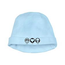 Peace Love Alien baby hat