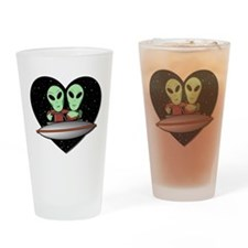 Aliens In Love Pint Glass