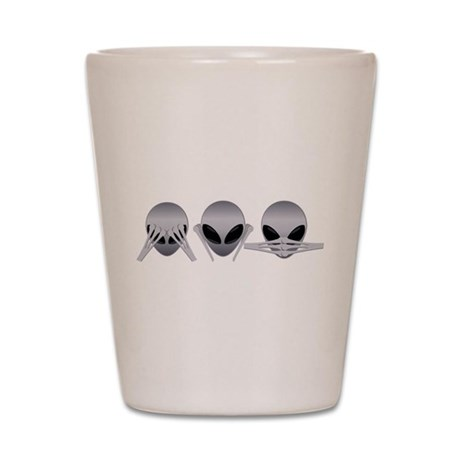 See No Evil Alien Shot Glass