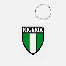 Nigeria Flag Patch Keychains