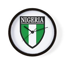 Nigeria Flag Patch Wall Clock