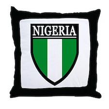 Nigeria Flag Patch Throw Pillow