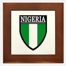 Nigeria Flag Patch Framed Tile