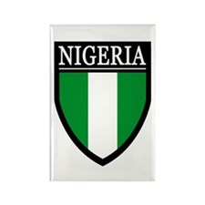 Nigeria Flag Patch Rectangle Magnet
