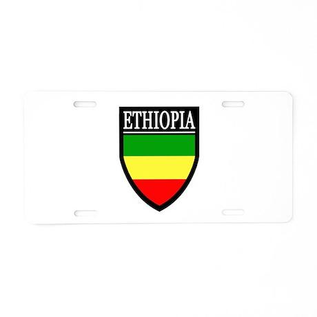 Ethiopia Flag Patch Aluminum License Plate