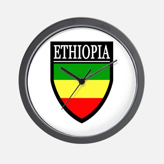 Ethiopia Flag Patch Wall Clock
