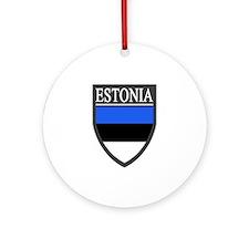 Estonia Flag Patch Ornament (Round)