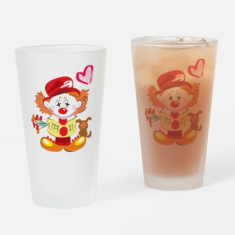 Love Clown Pint Glass