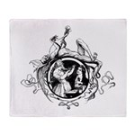 Devil Illustration Throw Blanket